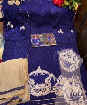 MISHAAL 8010 G DARK BLUE SALWAR KAMEEZ WHOLESALE