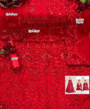 RAMSHA 334 RED SALWAR KAMEEZ WHOLESALER SURAT