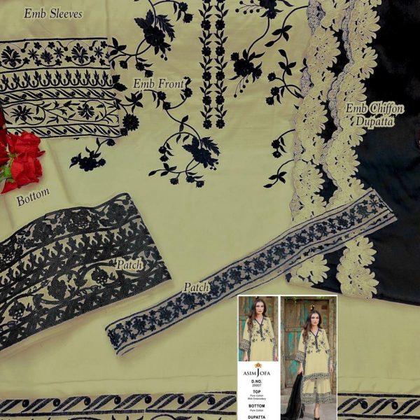 ASIM JOFA 29007 NEW COLOR WHOLESALE PAKISTANI SUITS ONLINE
