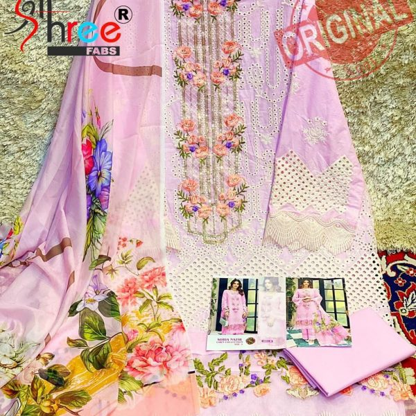 SHREE FABS 1831 B PINK SOBIA NAZIR SUITS MANUFACTURER