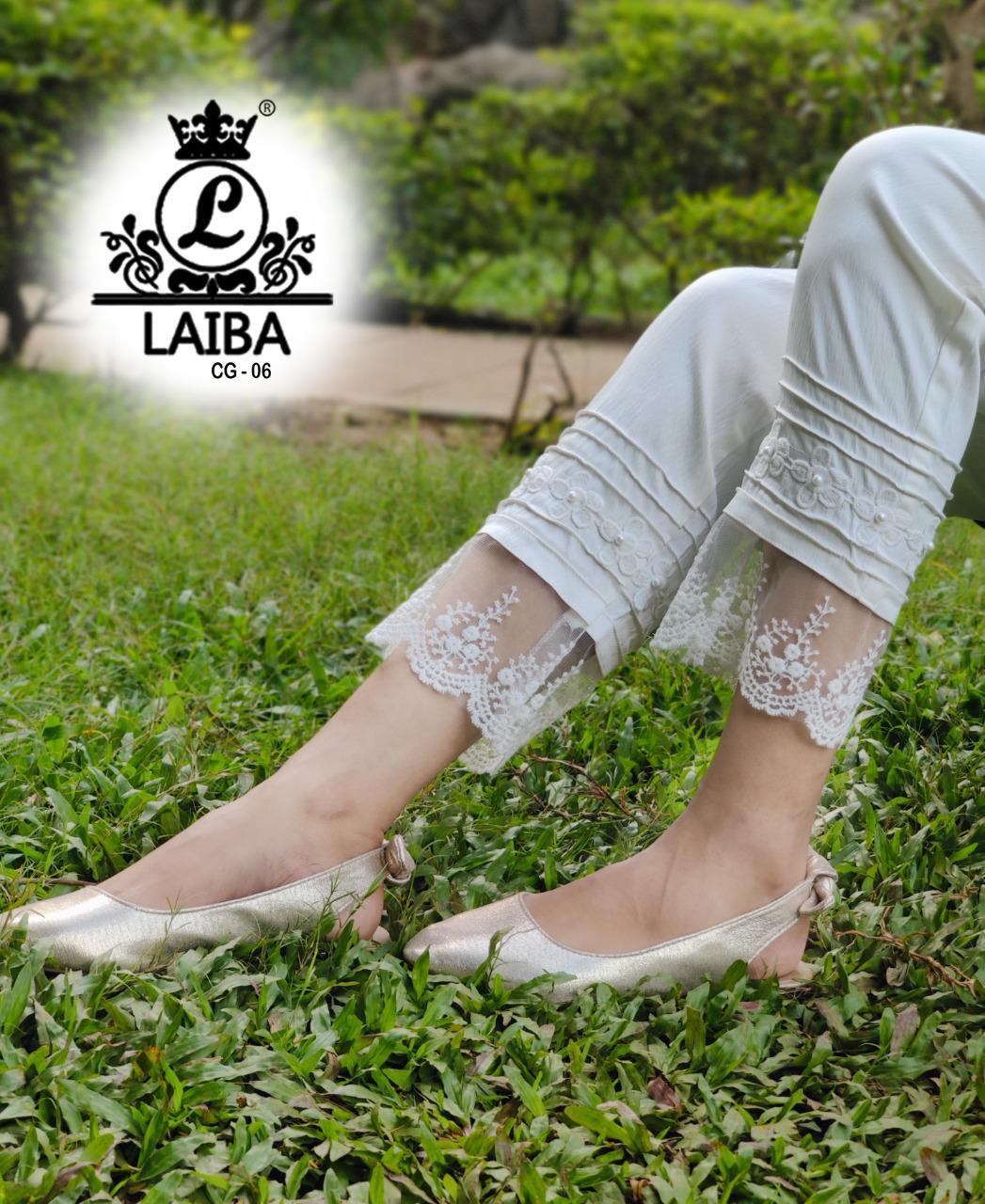 LAIBA CG 06 WHITE CIGARETTES PANTS MANUFACTURER